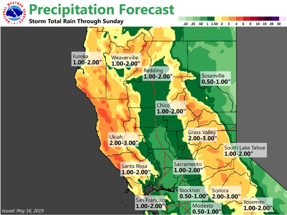 U.S.: First storm hits California, more heavy rain due following week