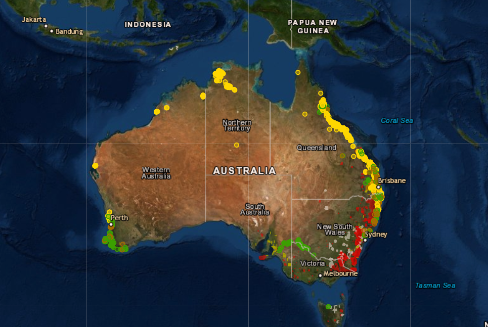 Australia: High-tech map shows fruit, macadamia farms hit by bushfires