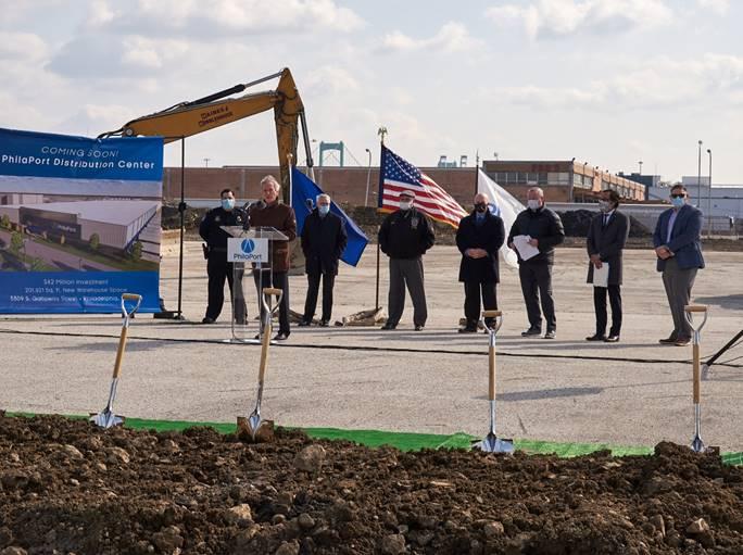 PhilaPort breaks ground on new near-dock warehouse