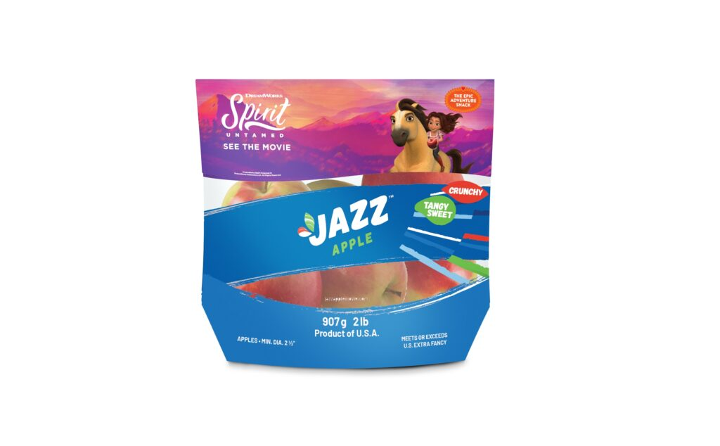 Jazz apples partner with DreamWorks Animation's new movie