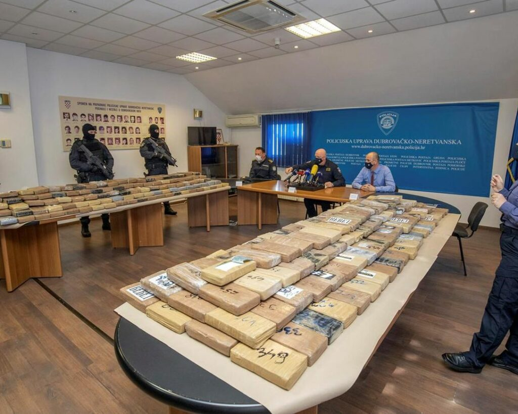 Croatia police find cocaine hidden in fruit containers in seaport