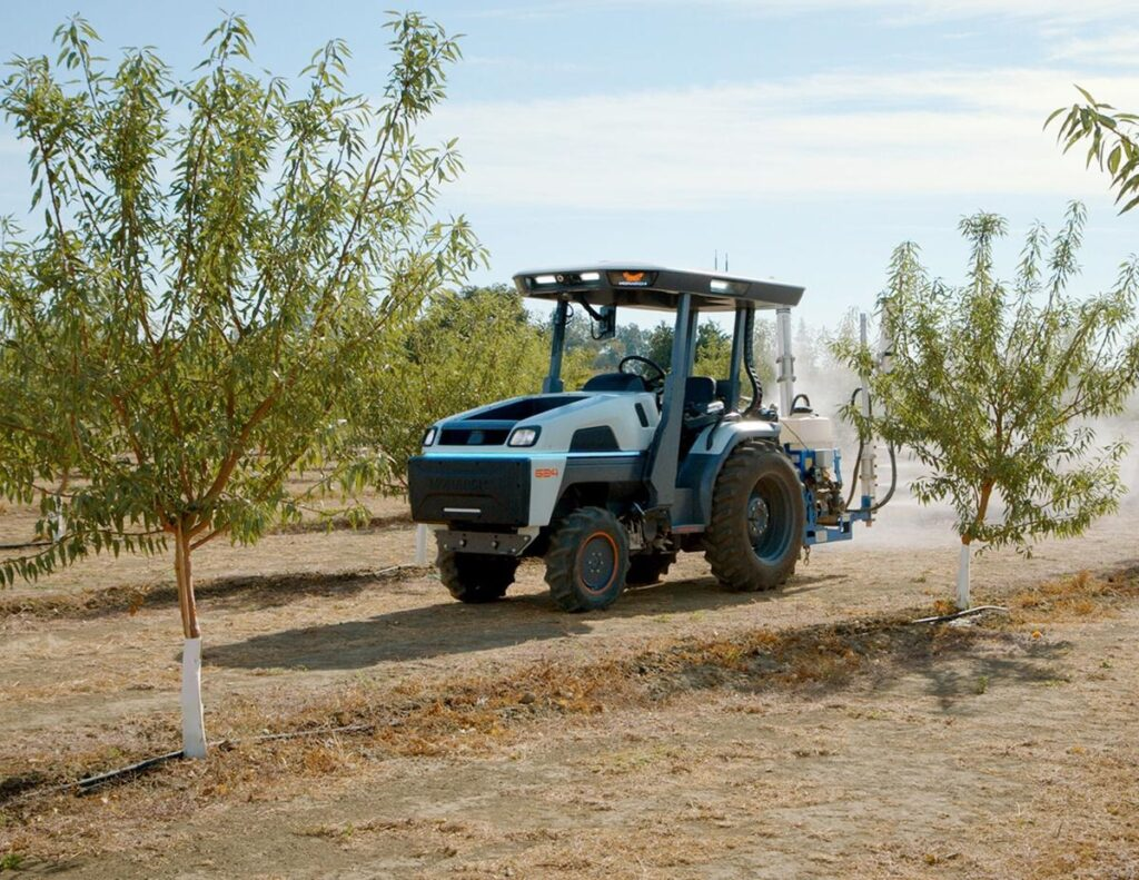 Oregon blueberry grower tests self-driving electric tractor